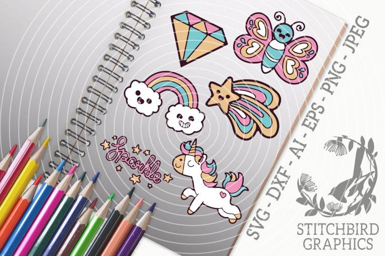 Cute Fantasy Doodles SVG, Silhouette Studio, Cricut, Eps example image 1