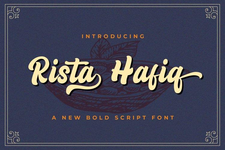 Rizta Hafiq - Retro Bold Script Font example image 1