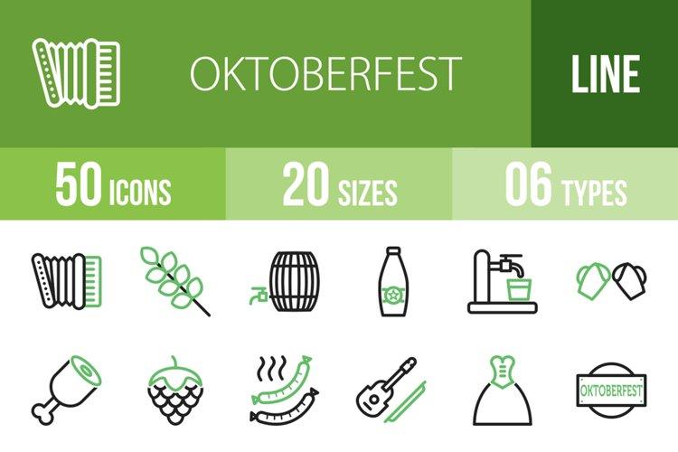 Download 50 Oktoberfest Line Green Black Icons 168310 Icons Design Bundles