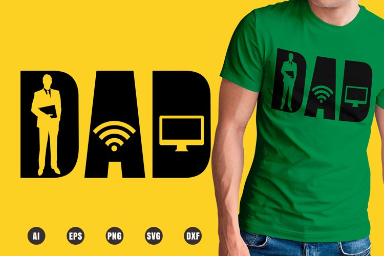 Dad IT Worker SVG - Father's Day Designs example image 1