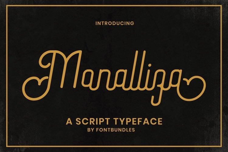 Web Font Monalliza example image 1