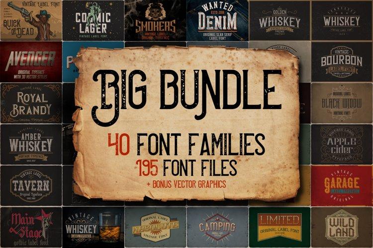 Vintage Fonts Bundle example image 1