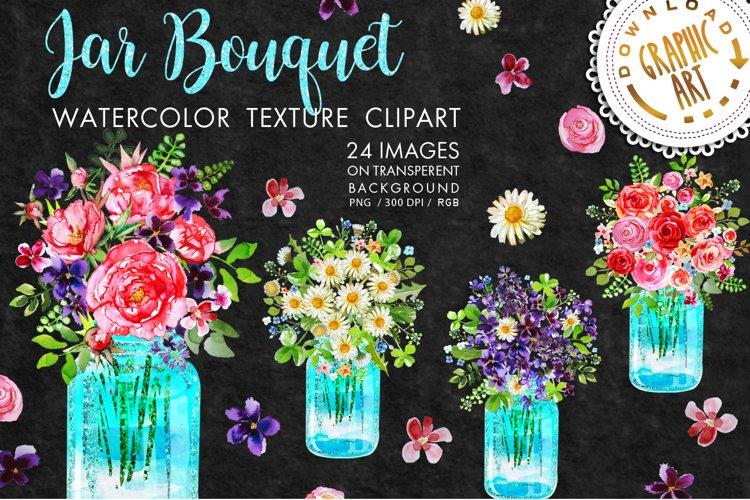 Mason jar Bouquet Clip Art