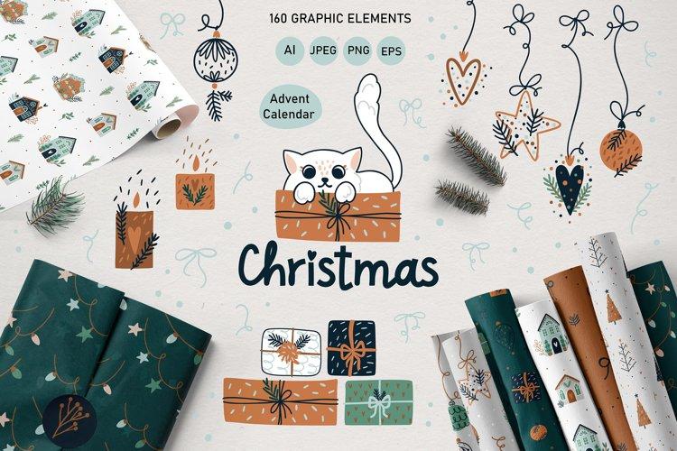 Christmas Art illustration, Nursery art example image 1