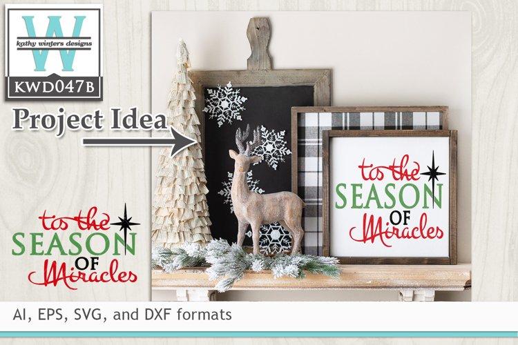 Christmas SVG - Tis The Season example image 1
