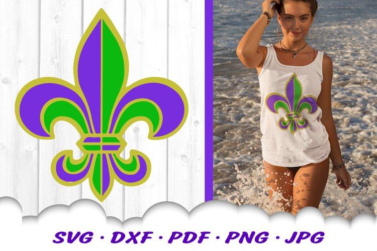 Mardi Gras Fleur De Lis SVG DXF Cut Files