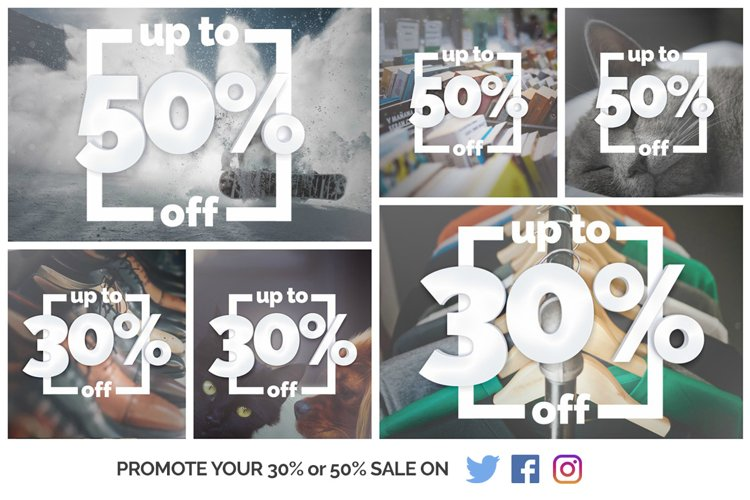 Up to 50% Off - Inform your customers about your Winter Sale