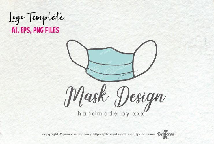 business logo template, face masks business, logo design example image 1