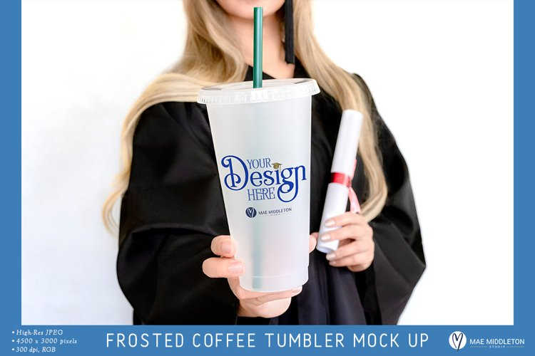 Graduation Mockup | Frosted Tumbler Styled Photo