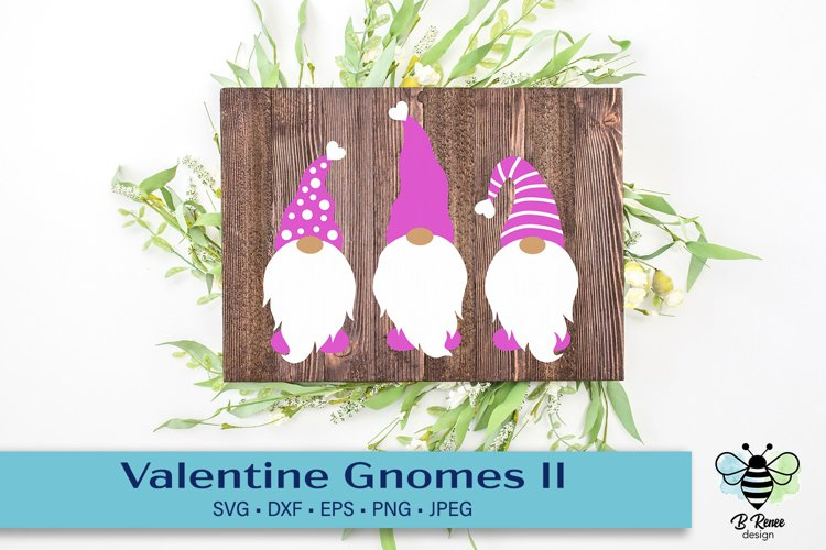 Valentine's Day Gnomes SVG with decorative hats example image 1