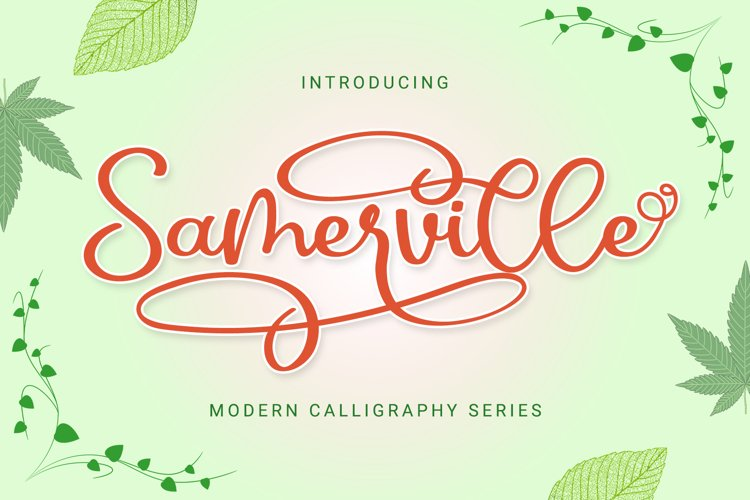 Samerville - Bouncy Calligraphy Font example image 1