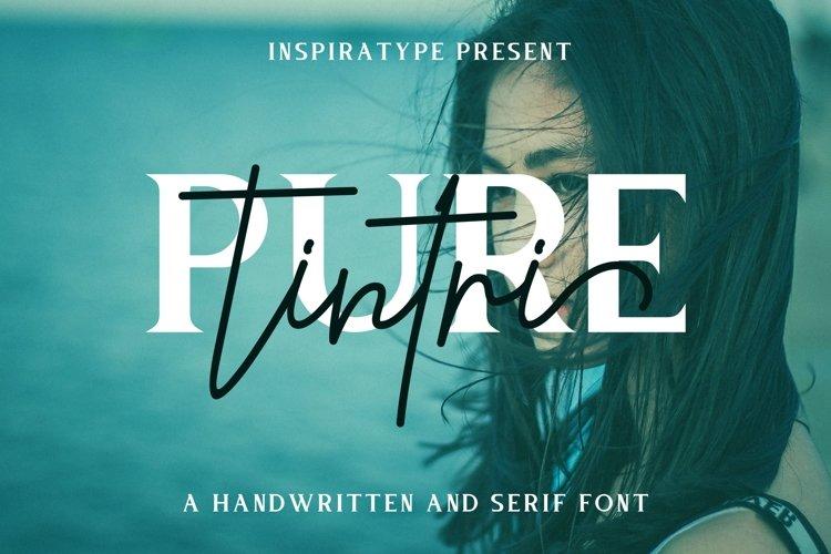 Tintri Pure - Script and Serif example image 1