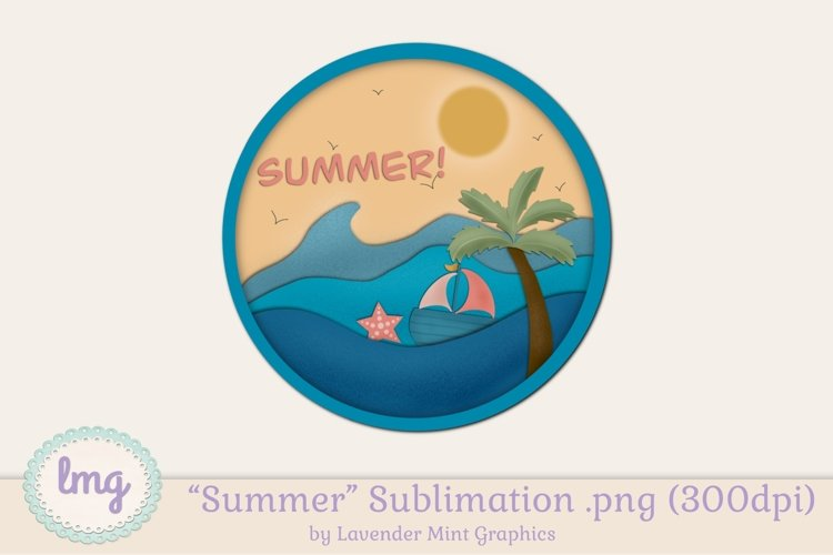 Summer Sublimation Clipart PNG // Boat, Starfish, Palm Tree