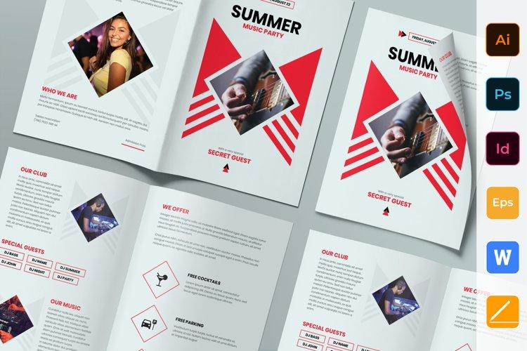 Summer Music Party Brochure Bifold