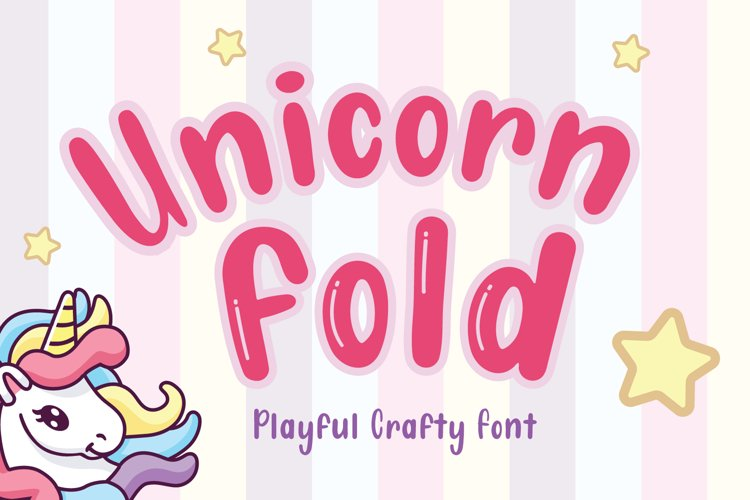 Unicorn Fold - Display Font example image 1