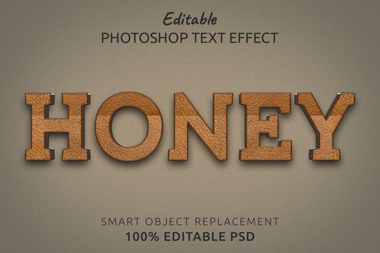 Honey Editable Photoshop Text Style Effect example image 1