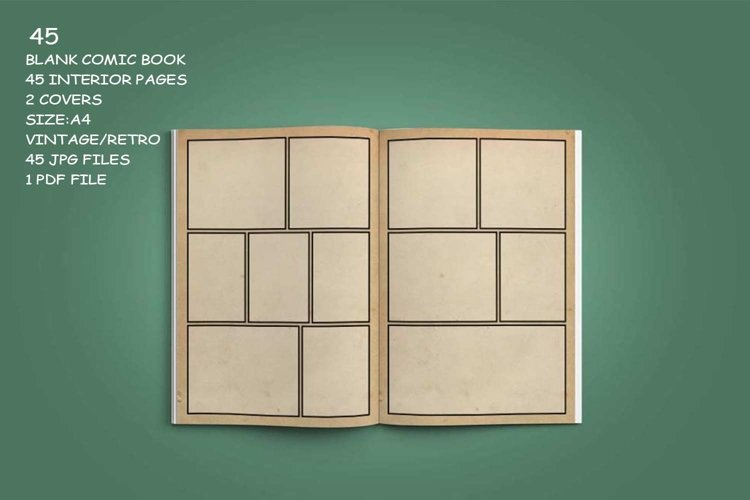 Blank Comic Book Interior Pages & Covers JPG-PDF-PSD-PNG example 9