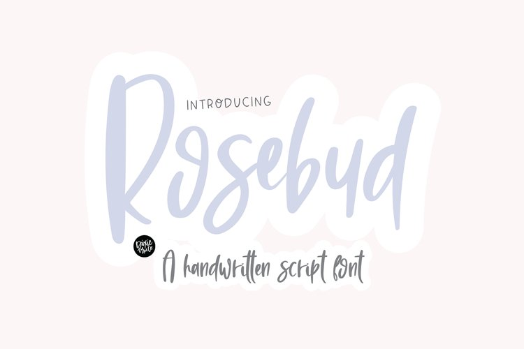 ROSEBUD a Handwritten Script Font example image 1