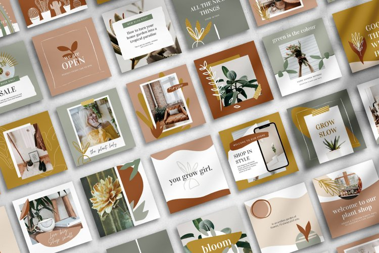 25 Instagram Templates made in Canva | Plant Lovers