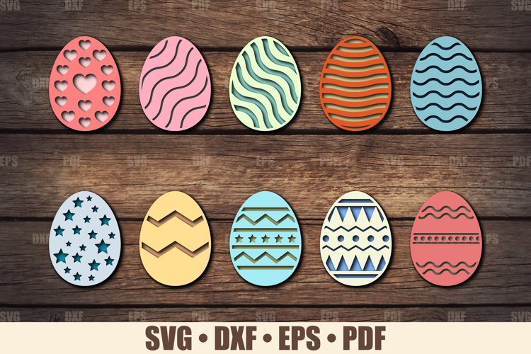 Easter Eggs SVG Bundle Glowforge Ready, SVG files for Cricut