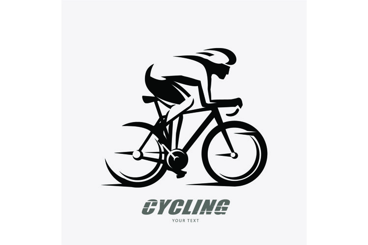 cyclist stylized vector symbol example image 1