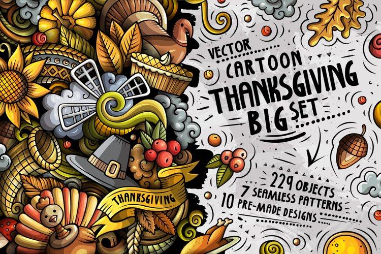 Happy Thanksgiving Cartoon Doodle Big Pack