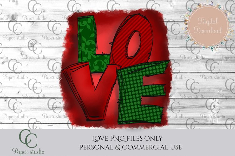 Sublimation design - Love - Christmas example image 1