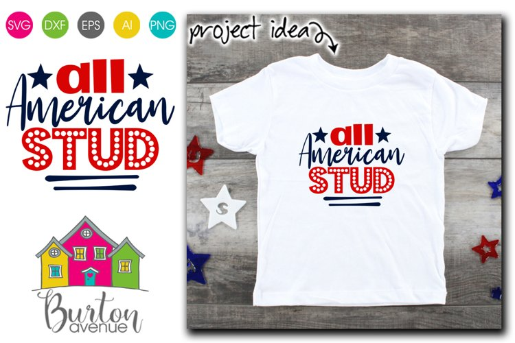All American Stud SVG File example image 1