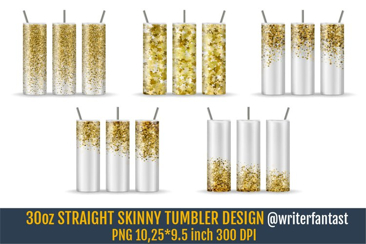 30oz STRAIGHT Skinny Tumbler Sublimation template example image 1