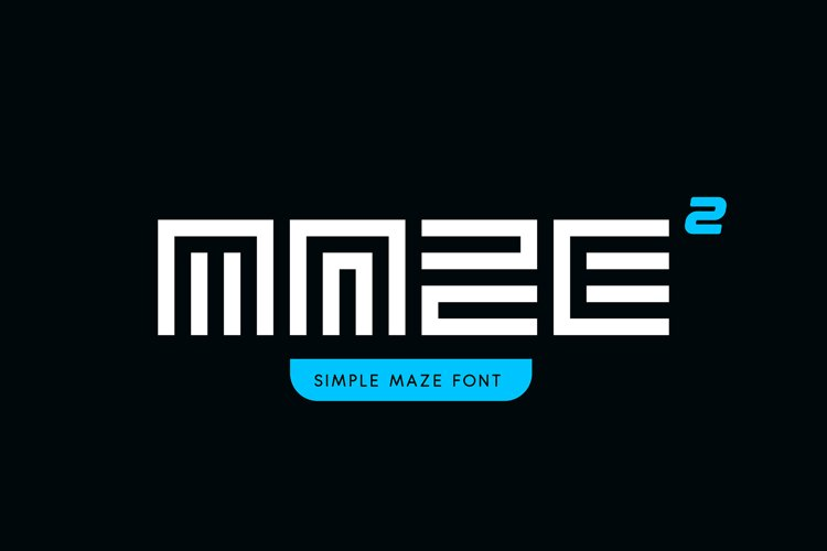 Simple Maze Font example image 1