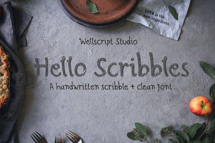 Hello Scribbles - Handwritten font example image 1