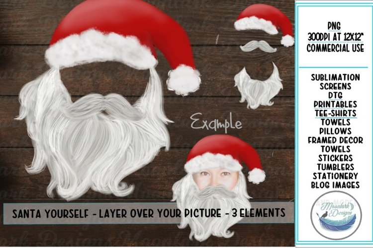 Santa Yourself - Clip Art, 3 Christmas PNG files example image 1