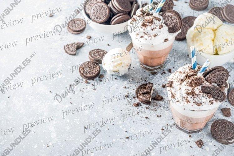 Mocha milkshake with cookies and cream example image 1