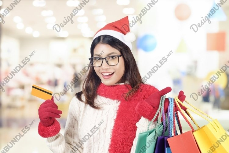 Winter and Christmas shopping concept. example image 1
