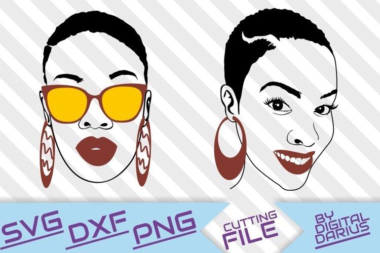 Silhouette Afro Woman in Glasses svg Instant download Black Girl Magic svg File for Cricut Unbothered svg Short Hair svg Mood svg