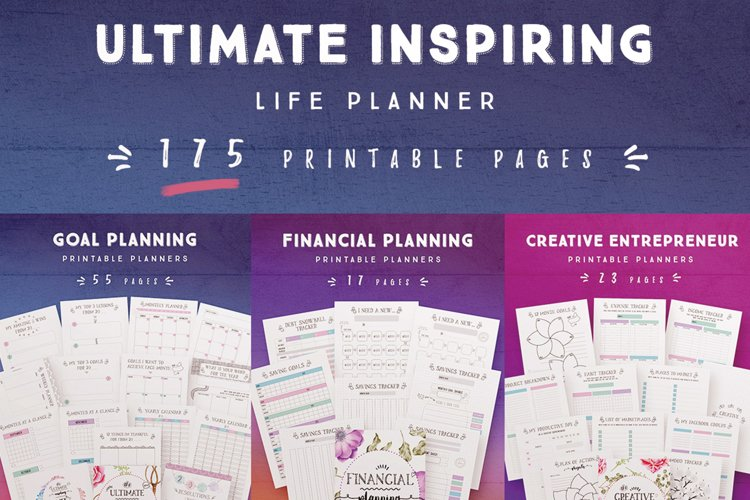 Ultimate Inspiring Life Planner -175 Pages