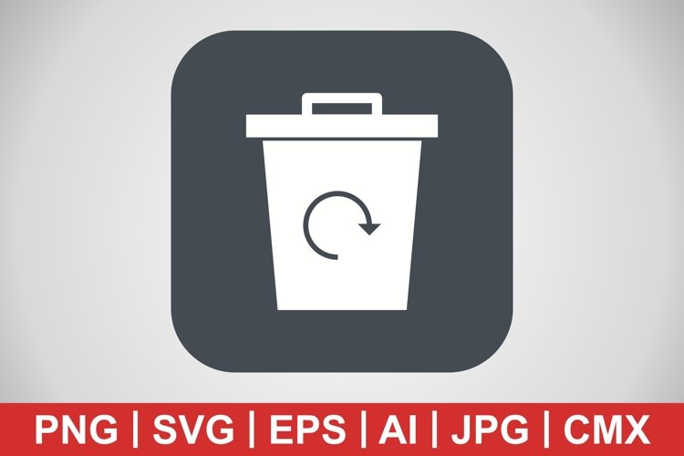 Vector Garbage Recycle Icon example image 1