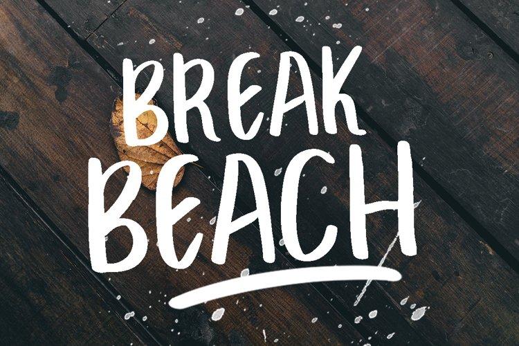 BREAK BEACH - BRUSH FONT example image 1