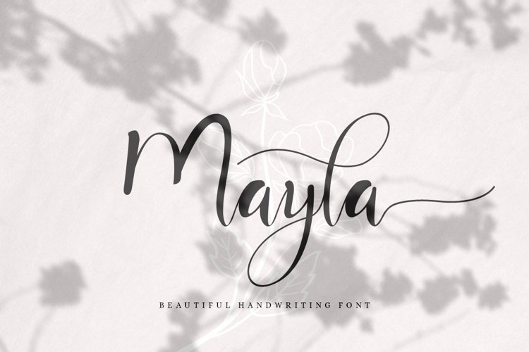 Mayla - Beautiful Handwriting Script example image 1
