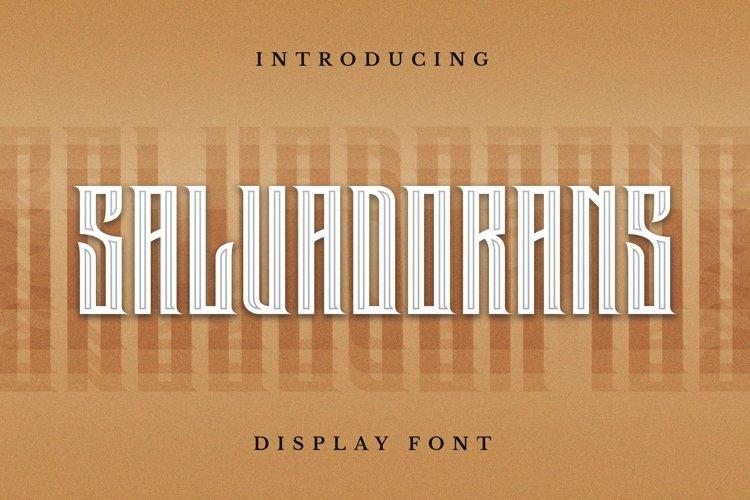 Web Font Salvadorans Font example image 1