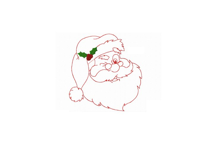 Redwork Santa Clause in 3 sizes example image 1
