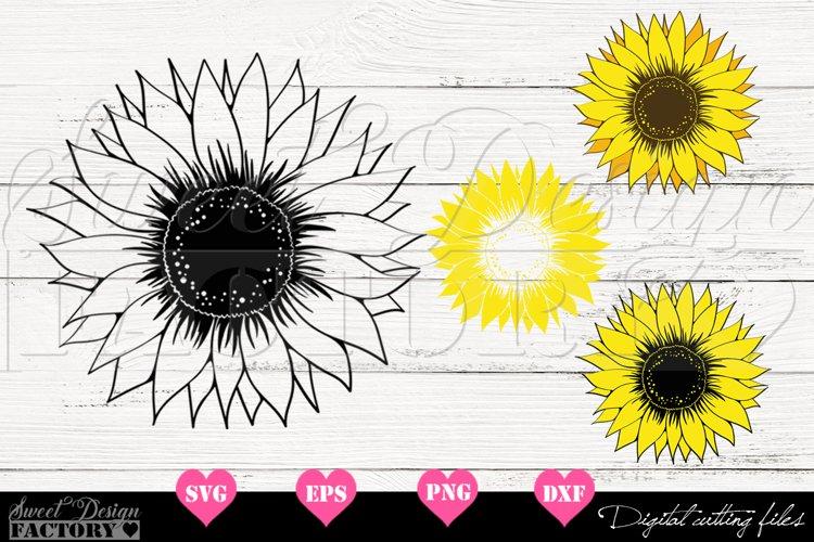 Sunflower Bundle Svg example image 1