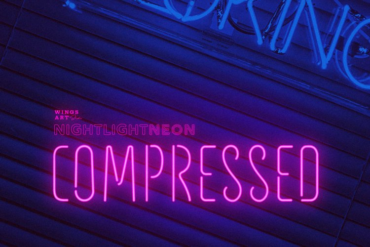 Night Light Neon Font - Compressed example image 1