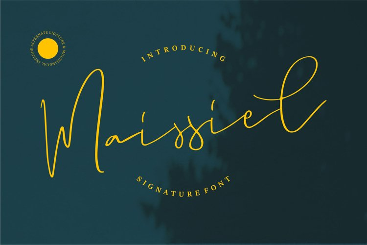 Maissiel | Signature Font example image 1