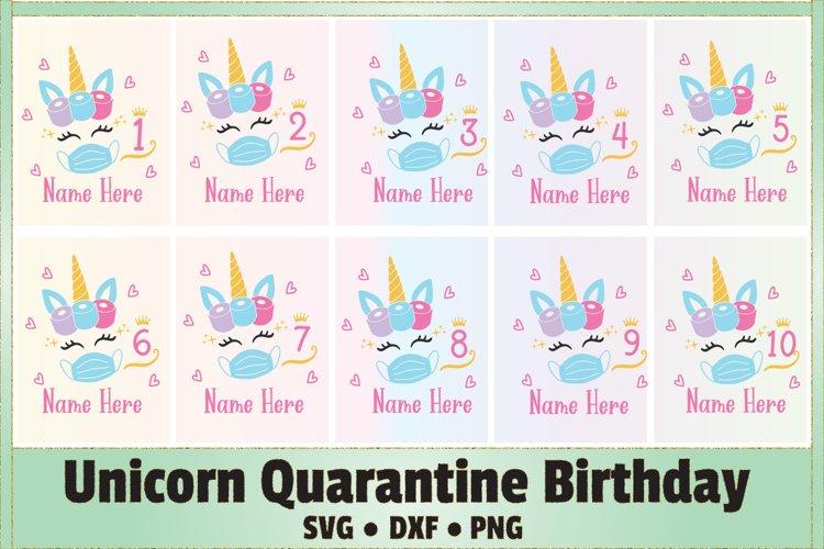 Unicorn Quarantine Birthday SVG Cut File