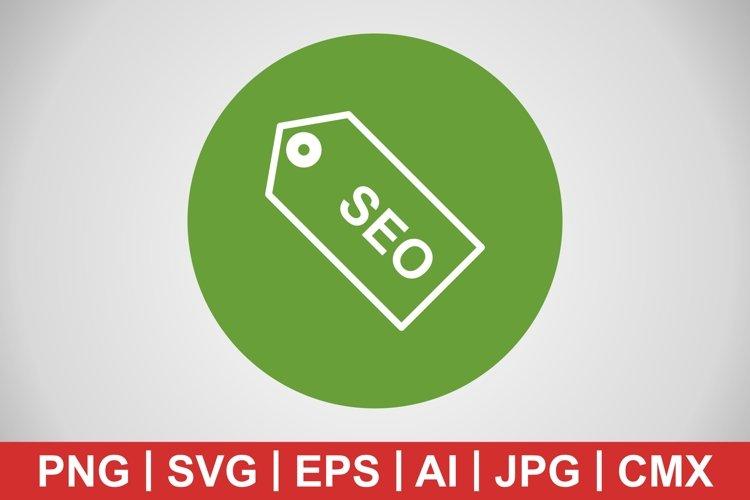 Vector SEO Tag Icon example image 1