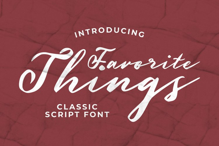 Favorite Things Font example image 1