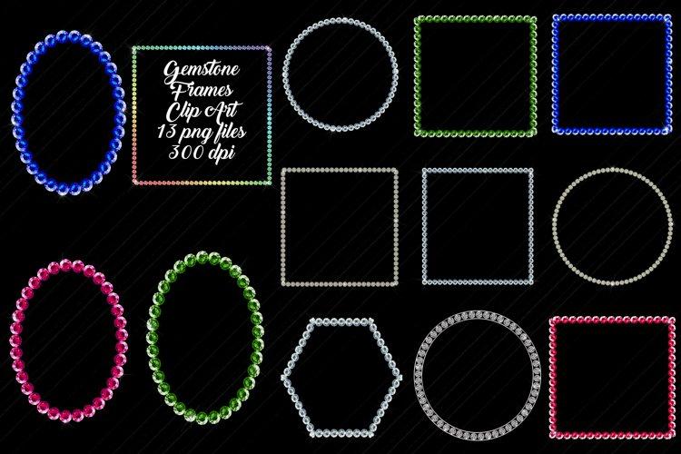 Gemstone/Diamonds Frames Clip Art example image 1
