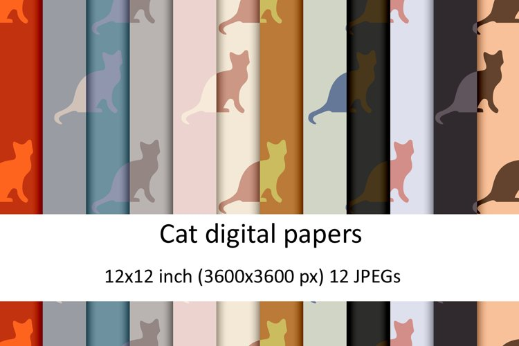 Cat digital papers example image 1