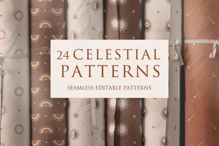 Celestial Magic Seamless Patterns